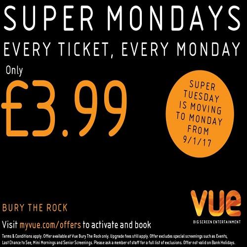 Super Monday's at Vue Cinema