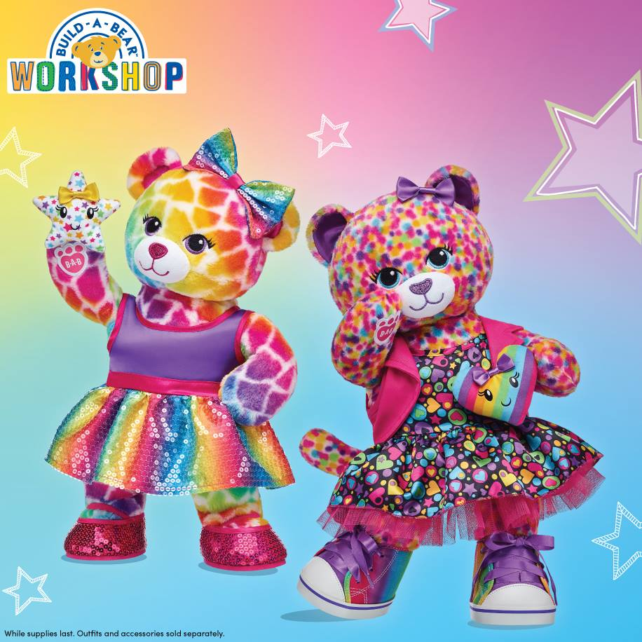 New rainbow furry friends at Build A Bear