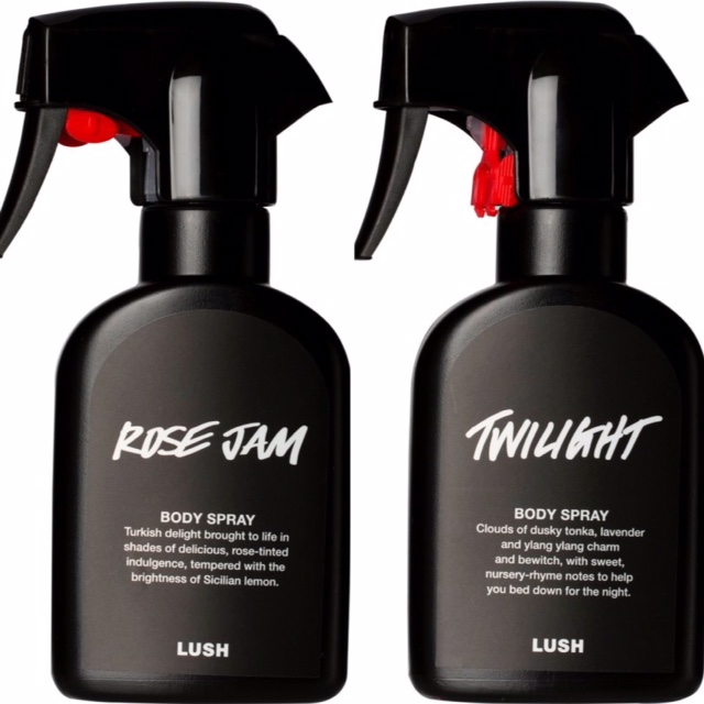 New body sprays at Lush