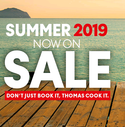 Summer 2019 sale on at Thomas Cook