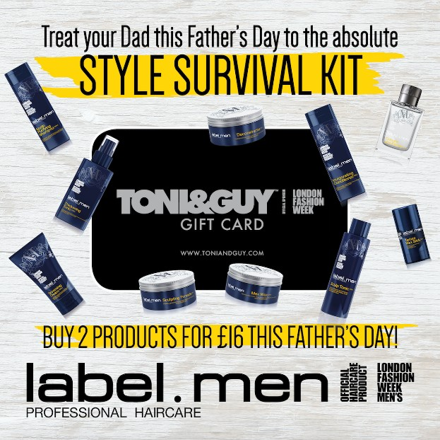 Treat your dad with Toni & Guy this Father's Day