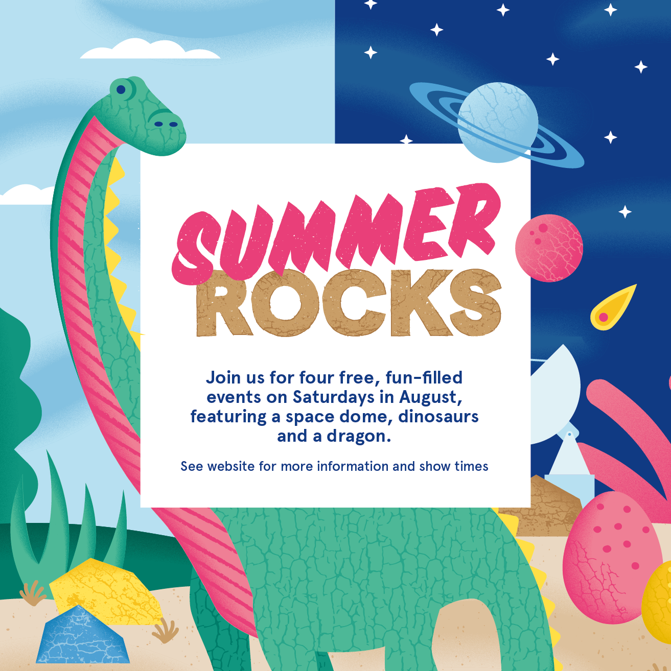Free 'Summer Rocks' fun for the family